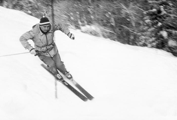 Erkki Penttilä Kolilla vuonna 1955.